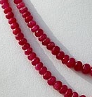 16 inch strand Pink Sapphire Gemstone  Faceted Rondelles