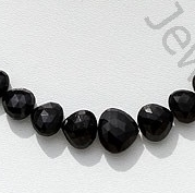 wholesale Black Tourmaline Heart Briolette