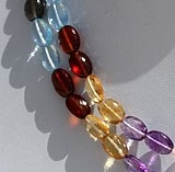 16 inch strand Semi Precious Multi  Oval Faceted