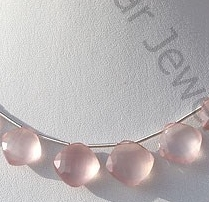 wholesale Rose Quartz Gemstone Cushion Beads