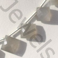 aaa Grey Moonstone  Cushion Beads