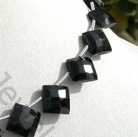wholesale Black Spinel  Puffed Diamond Cut