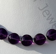 wholesale Amethyst Gemstone Faceted Coin