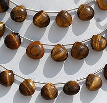 wholesale Tiger Eye  Heart Briolette