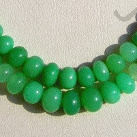 16 inch strand Chrysoprase Gemstone Plain Beads