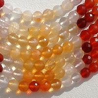 wholesale Mexican Fire Opal  Gemstone  Faceted Rounds