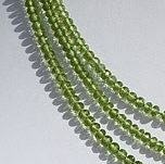 8 inch strand Peridot Gemstone Beads  Faceted Roundels