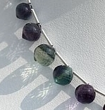 8 inch strand Fluorite Gemstone Onion Shape Beads