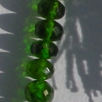 16 inch strand Chrome Diopside  Faceted Rondelle