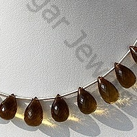 wholesale Beer Quartz  Tear Drops Briolette