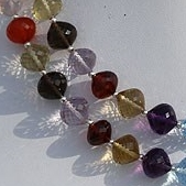 8 inch strand Semi Precious Gemstone Onion Cut