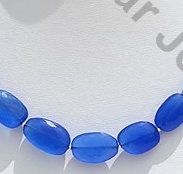 wholesale Navy Blue Chalcedony Faceted Nugget