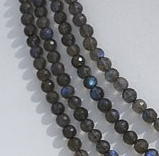 16 inch strand Labradorite Blue Power Faceted Rounds Beads
