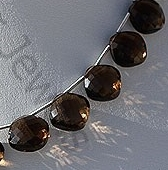 aaa Smoky Quartz Gemstone Cushion Beads