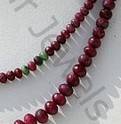 aaa Ruby Zoisite  Faceted Rondelles