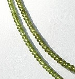 16 inch strand Vesuvianite Faceted Rondelles