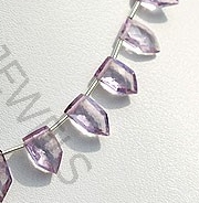 wholesale Pink Amethyst pentagon beads