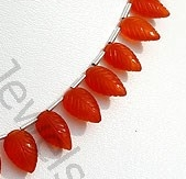 aaa Carnelian Gemstone  Carved Leaf