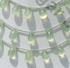 wholesale Prehnite Gemstone  Tear Drops Briolette