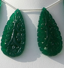 wholesale Green onyx carved beads