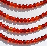 wholesale Carnelian Gemstone  Faceted Rondelle