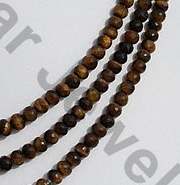 aaa Tiger Eye Faceted Rondelles