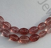 wholesale Strawberry Quartz Oval Faceted