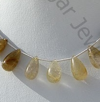wholesale Golden Rutilated Quartz Tear Drops Plain