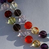 8 inch strand Semi Precious Gemstone Faceted Coin