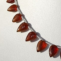 wholesale Spessartite Gemstone  Carved Leaf