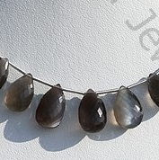 wholesale Black Moonstone Flat Pear Briolette