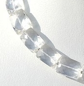 8 inch strand Crystal Gemstone  Faceted Rectangles