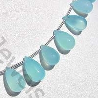 aaa Dyed Blue Chalcedony Plain Tear Drops