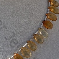 aaa Imperial Topaz  Flat Pear Briolettes