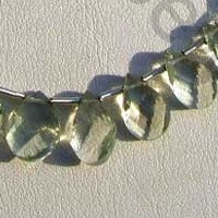 wholesale Green Amethyst Gemstone Twisted Flat Pear