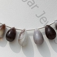 wholesale Botswana Agate Gemstone Tear Drops Plain