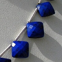 aaa Lapis Gemstone Puffed Diamond Cut