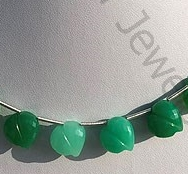 wholesale Chrysoprase Chubby Heart
