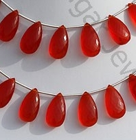 wholesale Carnelian Gemstone Flat Pear Briolette