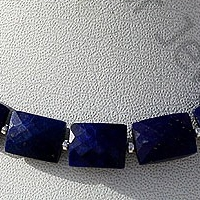 aaa Lapis Gemstone Faceted Rectangles