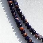 8 inch strand Sodalite Gemstone Faceted Rondelle