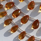 8 inch strand Citrine Gemstone  Pan