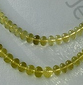 wholesale Lemon Quartz  Faceted Rondelles