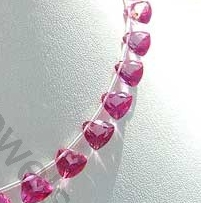 wholesale Pink Topaz Gemstone  Trilliant