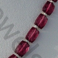 aaa Rubellite Garnet  Faceted Rectangles