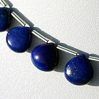 8 inch strand Lapis Gemstone Heart Plain