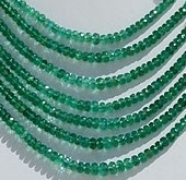 wholesale Emerald Gemstone Beads  Faceted Rondelle