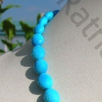 16 inch strand Turquoise Gemstone Oval Faceted