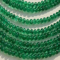 16 inch strand Emerald Gemstone Beads  Plain Beads