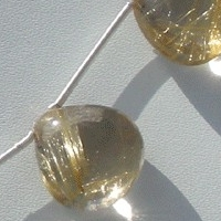 aaa Golden Rutilated Quartz  Heart Plain